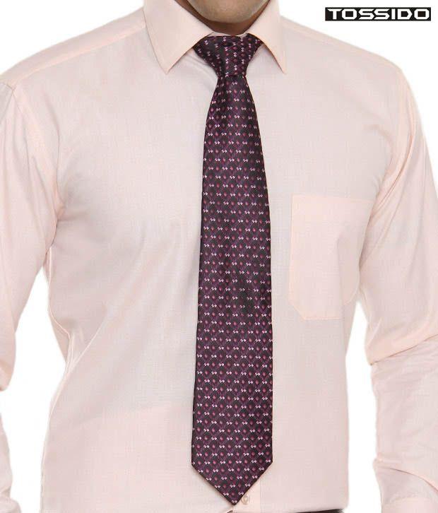 Tossido Purple Checkered Tie