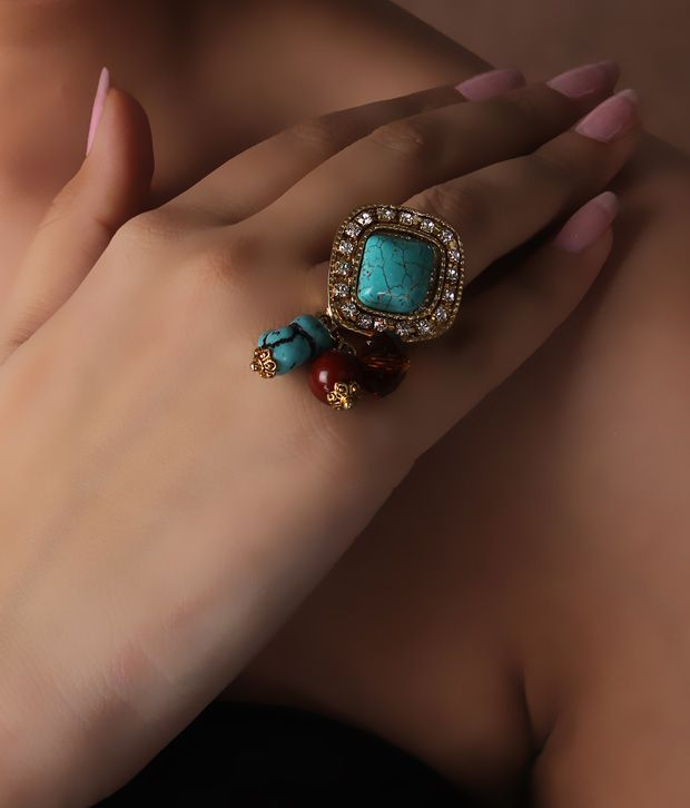 Spyra Turquoise Bead Ring
