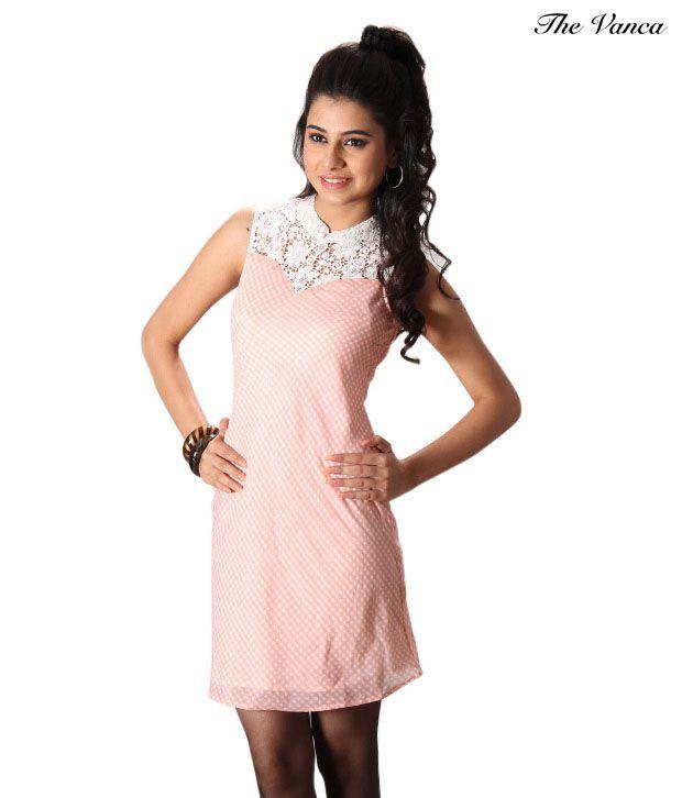 The Vanca Pretty Peach Dress