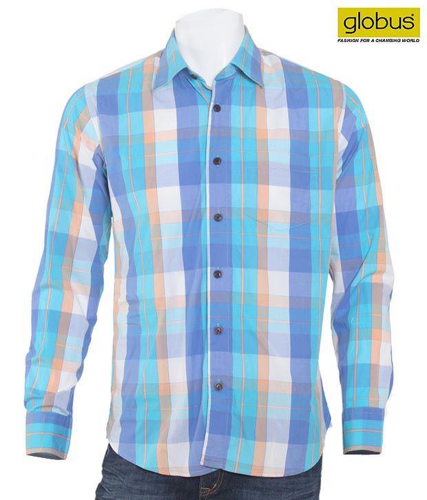 Globus Blue Cotton Shirt