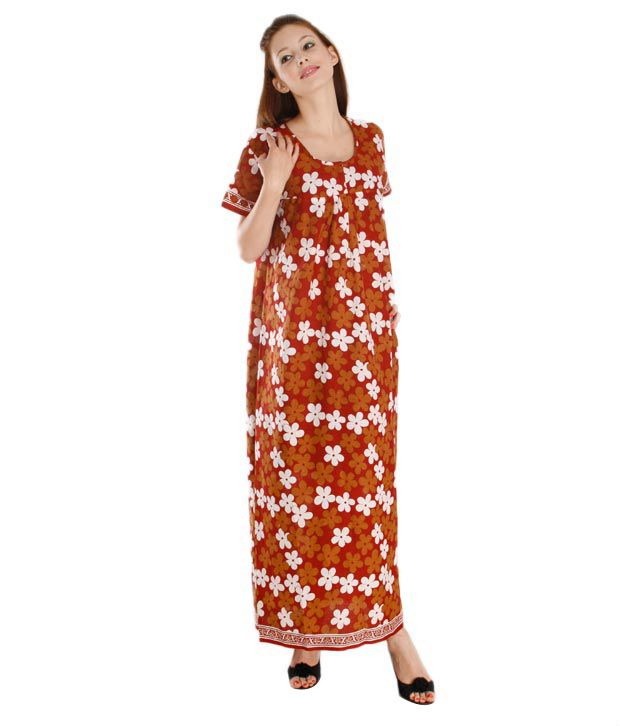 Plums And Peaches Smart Cotton Nighty