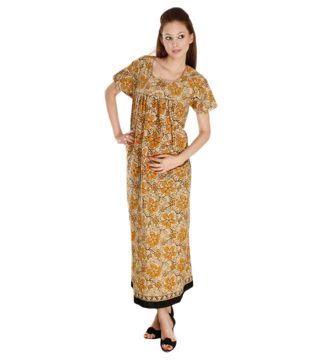 Plums And Peaches Ethnic Nighty