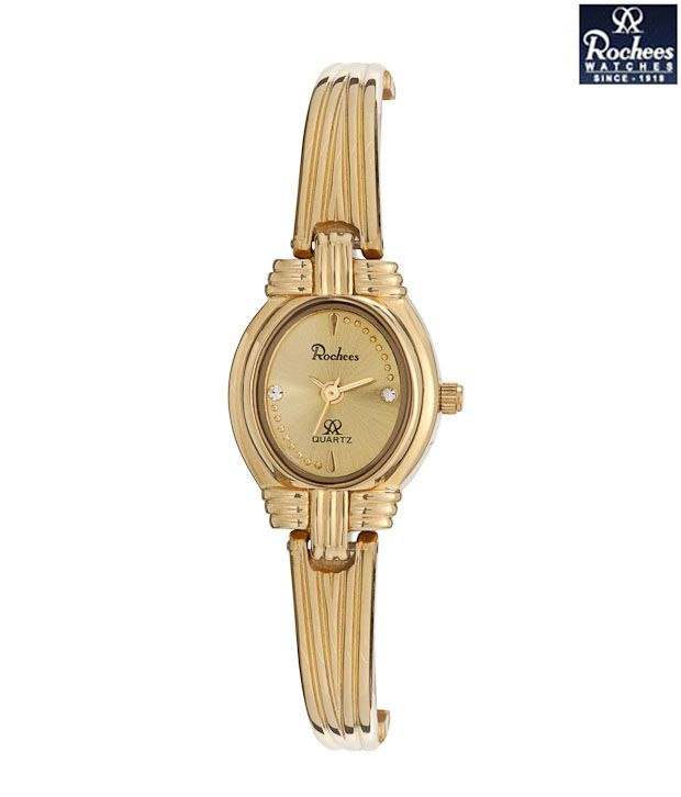 Rochees Royal Gold Tone Watch