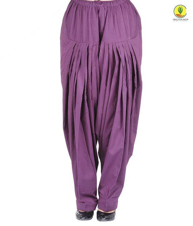 Ruplai Smart Purple Patiala Salwar