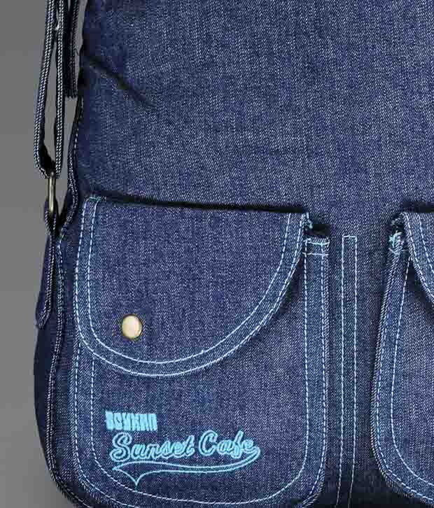 Spykar Denim Blue Sling Bag - Buy Spykar Denim Blue Sling Bag ...