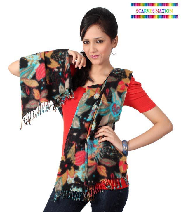 Scarves Nation Multicolour Tie & Die Scarf