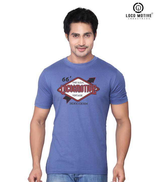Locomotive Classic Indigo T Shirt