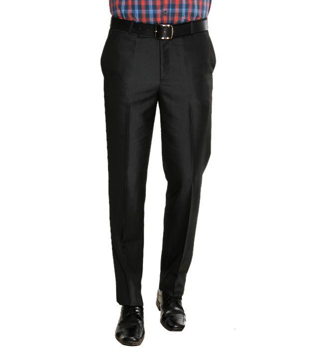 Viggo Modish Black Trousers