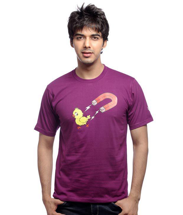 Inkfested Men's Chick Magnet Purple T-shirt