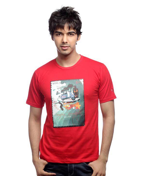 Inkfested Men's Goa Red T-shirt