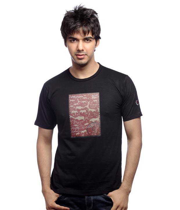 Inkfested Men's Kaziranga Black T-shirt