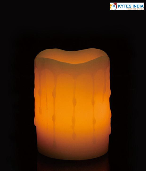 Kytes India Falling Wax LED Amber Candle