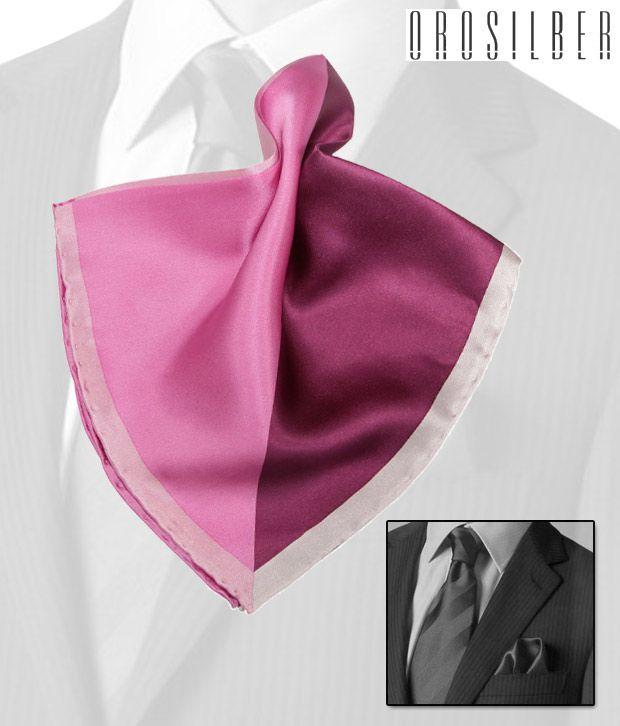 Orosilber Shades Of Pink Royal Silk Pocket Square