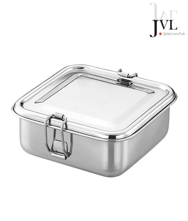 JVL Stainless Steel Square Lunch Box: Buy Online at Best ...