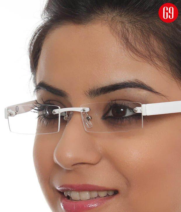G9 TR90-D86138-WHITE White Rectangle Eyeglasses
