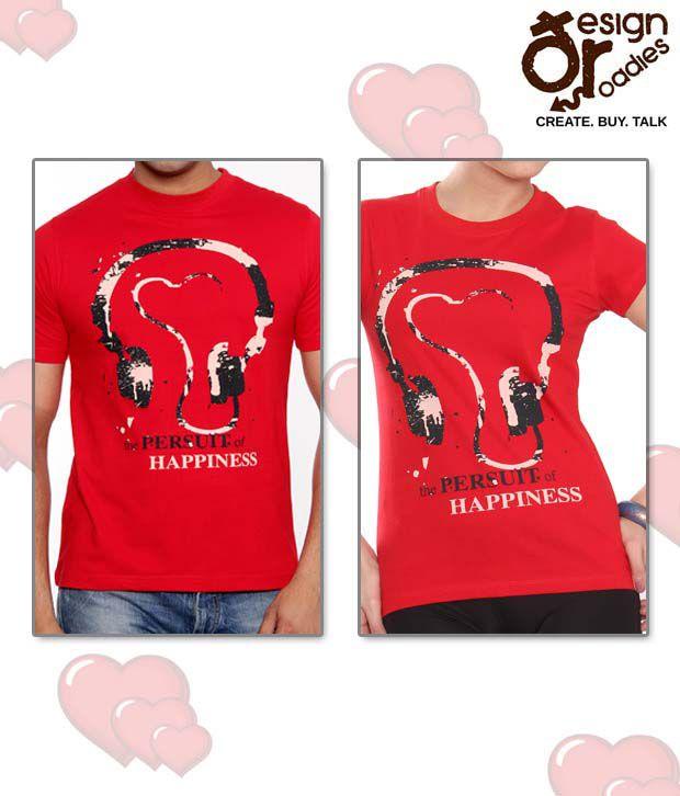 Design Roadies Ravishing Red T-Shirt Combo of 2