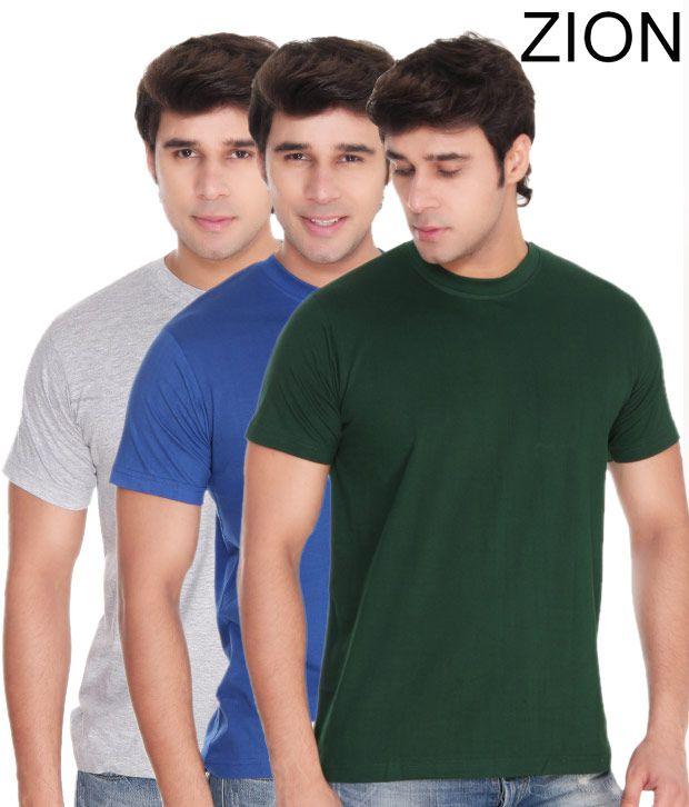 Zion Ultra Classic T-Shirt (Combo of 3)