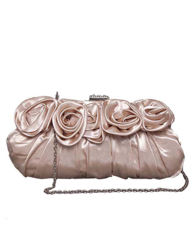 Bolso Glossy Light Peach Rose Corsage Clutch