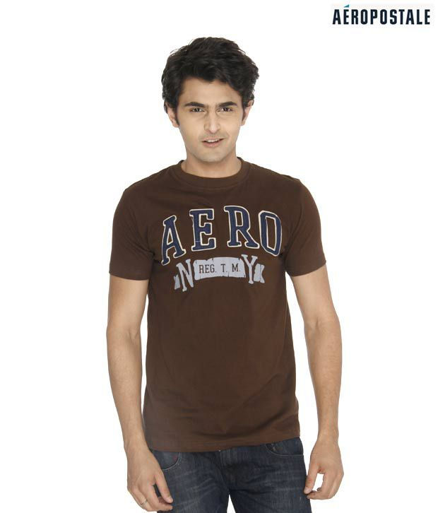 Aeropostale NY Dark Brown T-Shirt