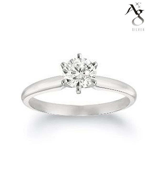 AG Splendid Diamond Solitaire Ring