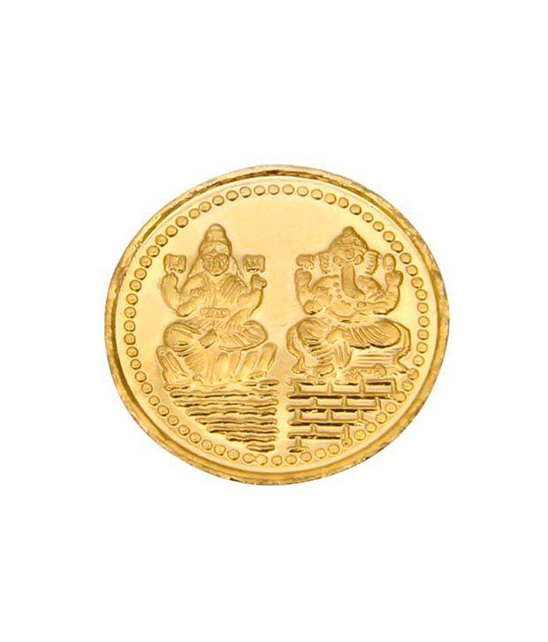 AJ Hallmarked Gold Coin 2gms