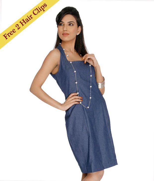 ANS Blue Denim Dress