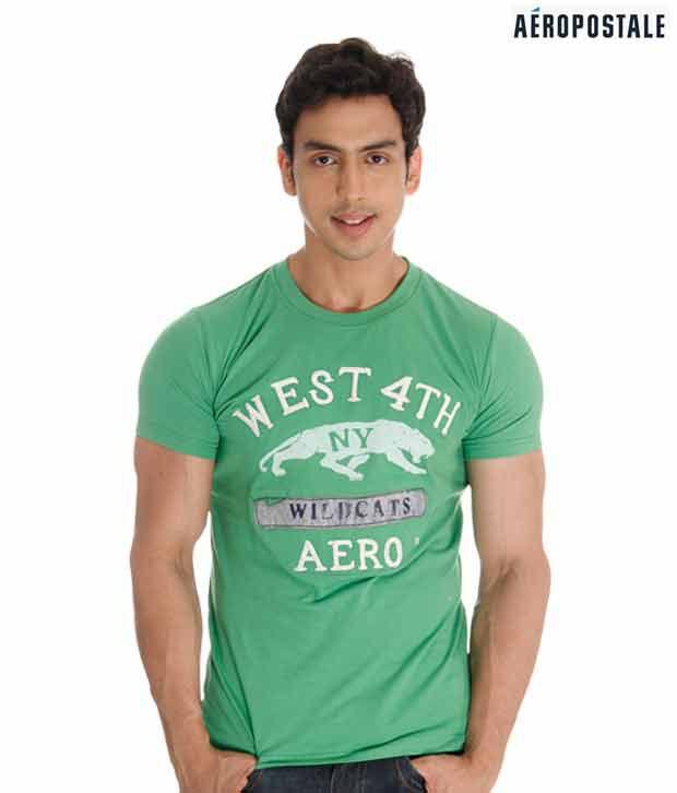 Aeropostale NY Pastel Green T-Shirt