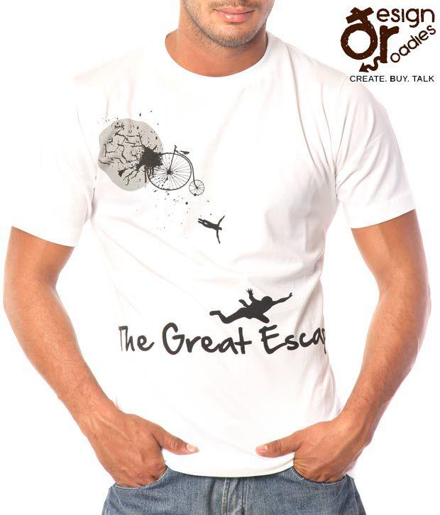 Design Roadies Great Escape White T-Shirt