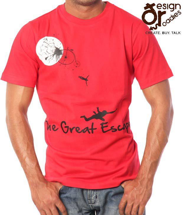 Design Roadies Great Escape Red T-Shirt