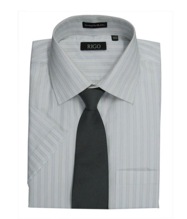 Rigo Light Blue Pin stripe Dobby Formal Shirt