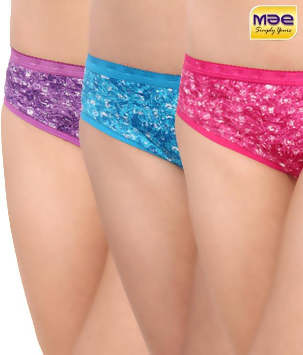Mae Multi Color Cotton Panties Pack of 3