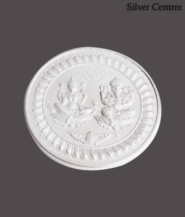 Silver Centrre Shri Lakshmi Ganesha Silver Coin - SC 101