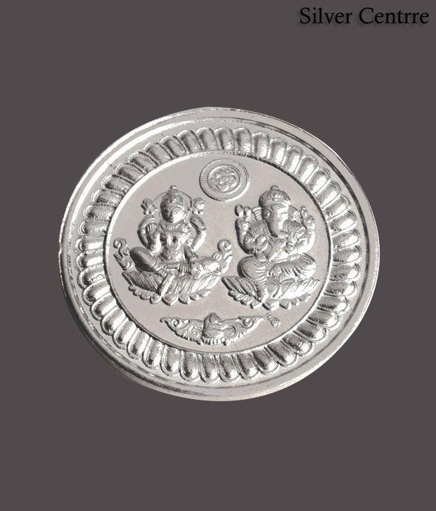 Silver Centrre Shri Lakshmi Ganesha Silver Coin - SC 103