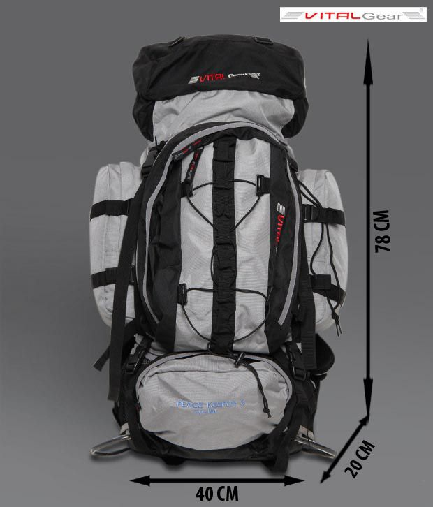 Vital Gear Peace Keeper-3 Black & Grey Rucksack
