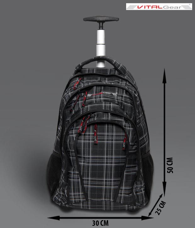 Vital Gear Techno Gear-10 Black Checked Laptop Backpack