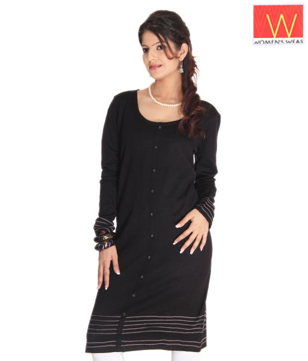 W Black Ethnic Kurta