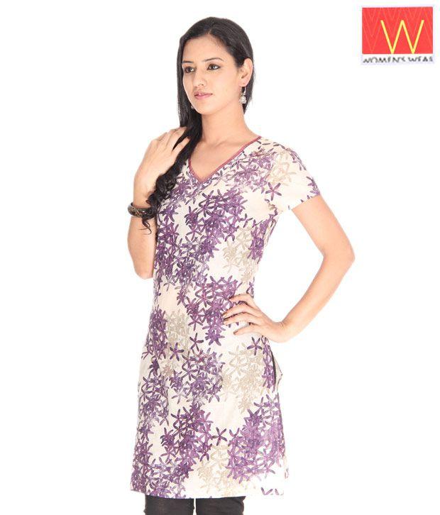 W Purple Ethnic Kurta