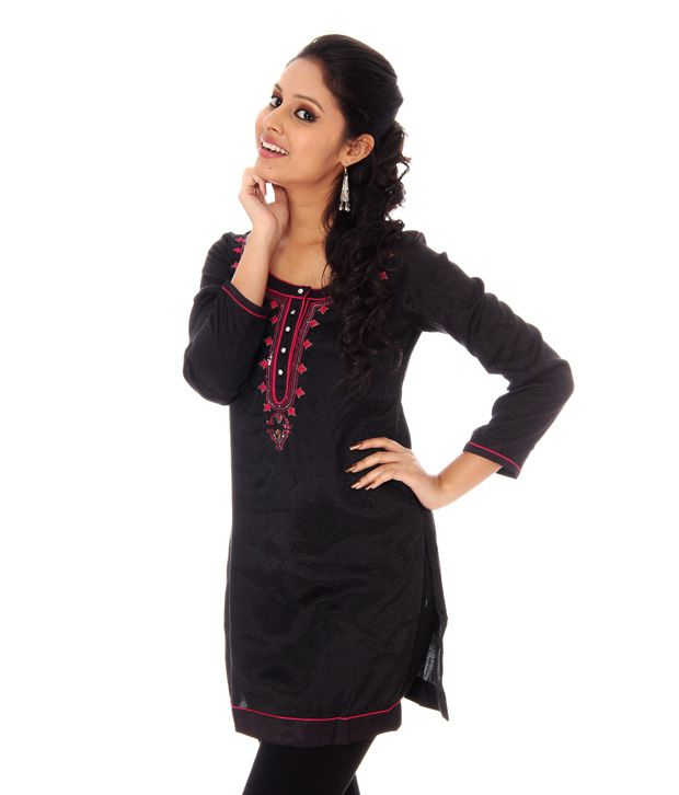 Wishful Black Kurta