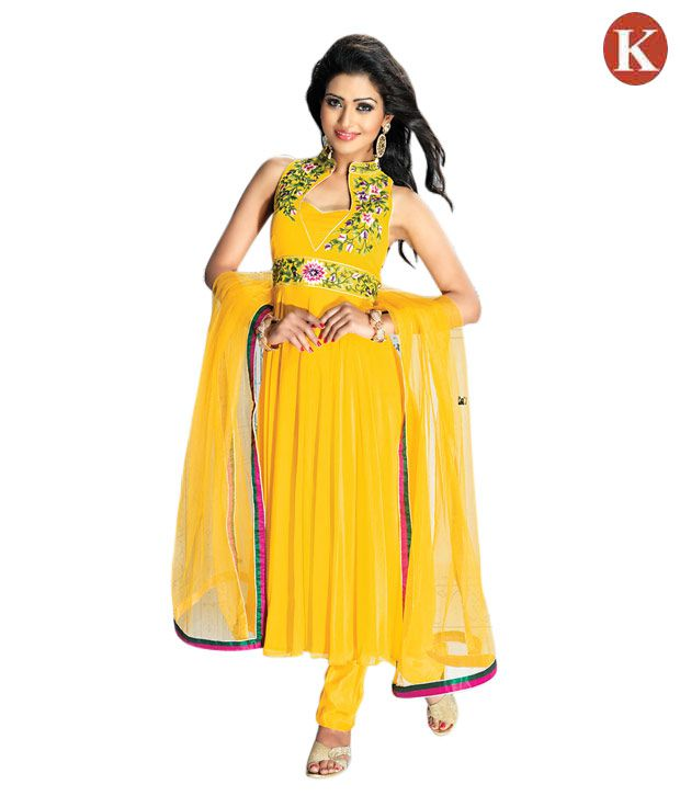 Khazana Yellow Tasteful Heavy Embroidered Salwar Suits