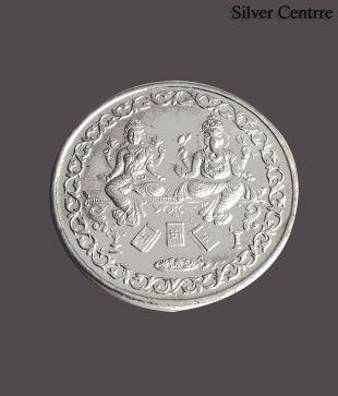 Silver Centrre Shri Lakshmi Ganesha Silver Coin - SC 102
