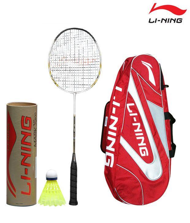 Li-Ning HC 1150 Badminton Racket + Li-Ning Shuttlecock Mark-X-800 (Nylon) + Li-Ning Kit Bag ABJE 138 - 6 in 1