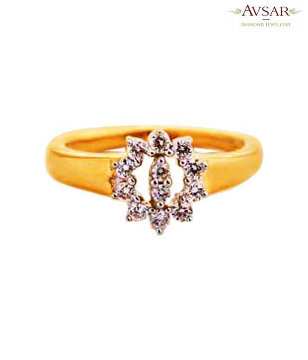 Avsar Ravishing Gold & Diamond Ring