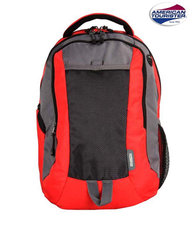 American Tourister Red Mesh Backpack