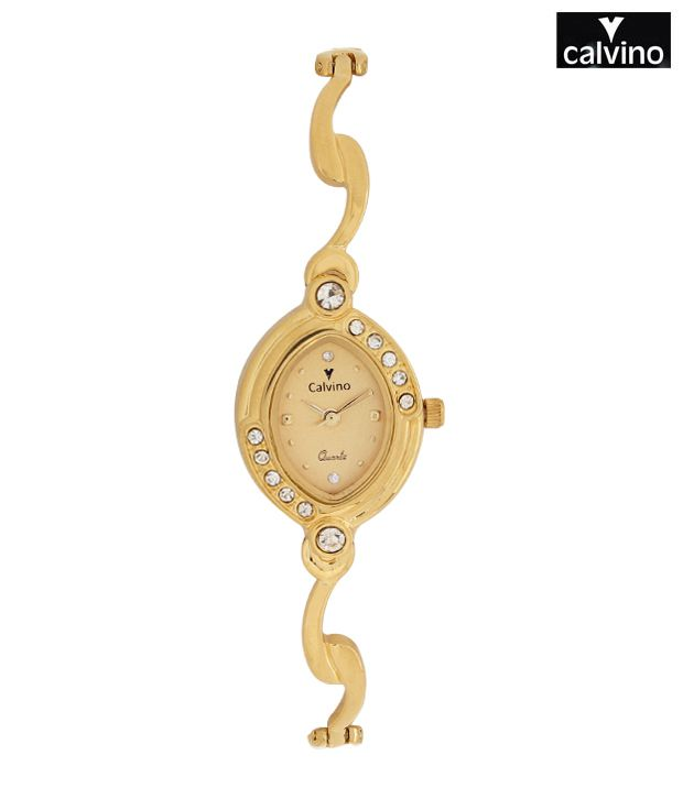 Calvino Stunning Gold Tone Watch
