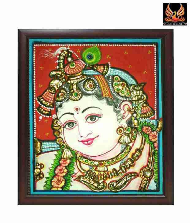 Live The Art Amazing Tanjore Painting Of Bal Krishna