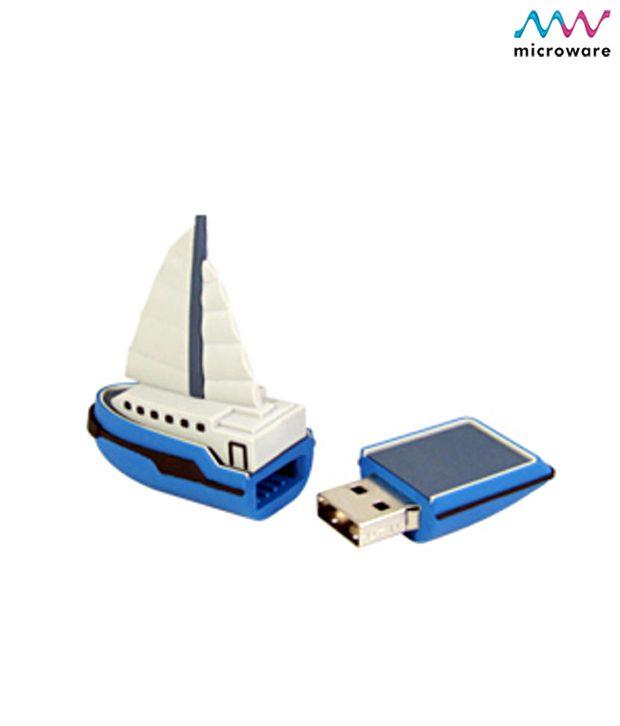 Microware Ship Boat Yacht Shape Designer 4 GB Pendrive