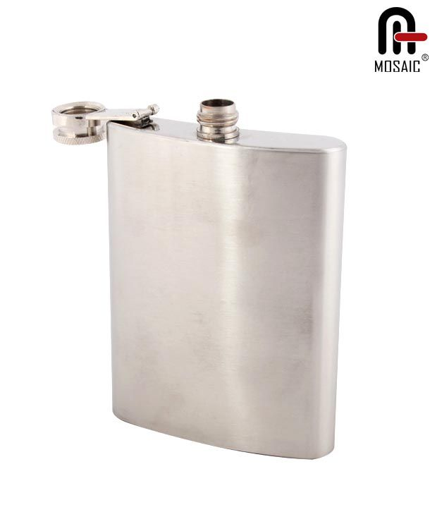Mosaic Stainless Premium Steel Hip Flask