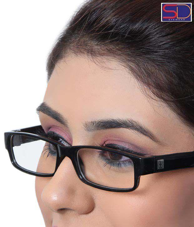 SD Sleek Polished Black Optical Frame