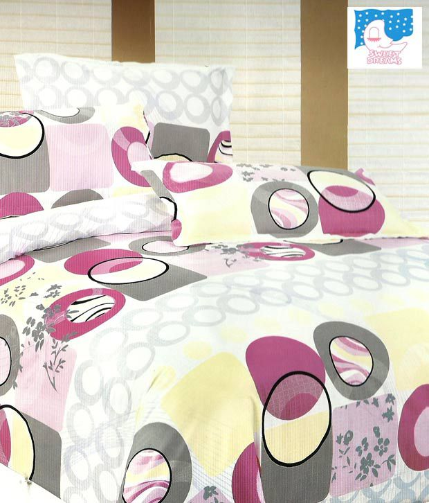 Sweet Dreams Circular Patterns Double Bed Sheet