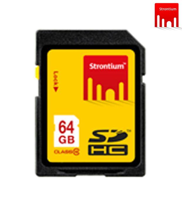 Strontium SDHC 64 GB Class 10 Memory Card